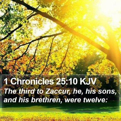 1 Chronicles 25:10 KJV Bible Verse Image