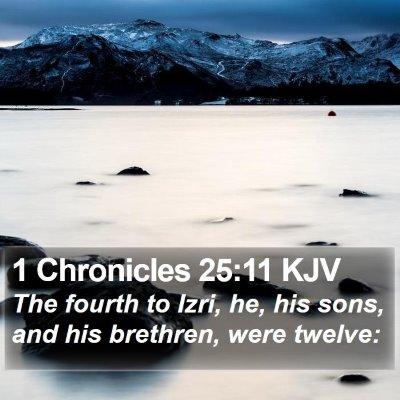 1 Chronicles 25:11 KJV Bible Verse Image