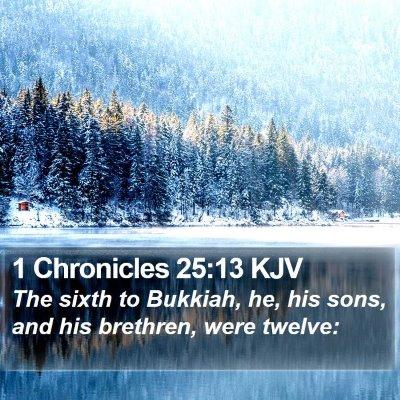 1 Chronicles 25:13 KJV Bible Verse Image