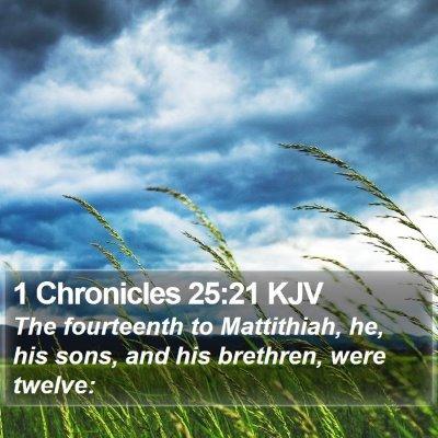 1 Chronicles 25:21 KJV Bible Verse Image