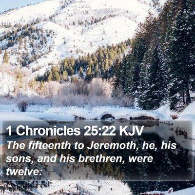1 Chronicles 25:22 KJV Bible Verse Image