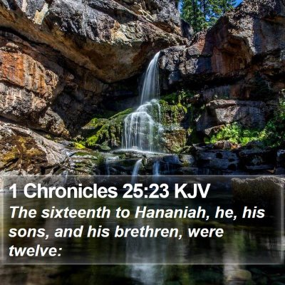 1 Chronicles 25:23 KJV Bible Verse Image