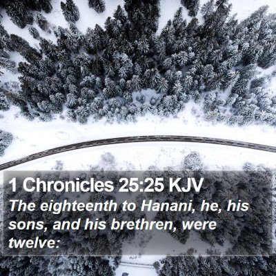 1 Chronicles 25:25 KJV Bible Verse Image
