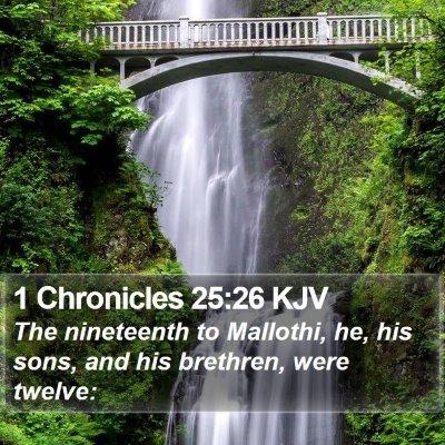 1 Chronicles 25:26 KJV Bible Verse Image