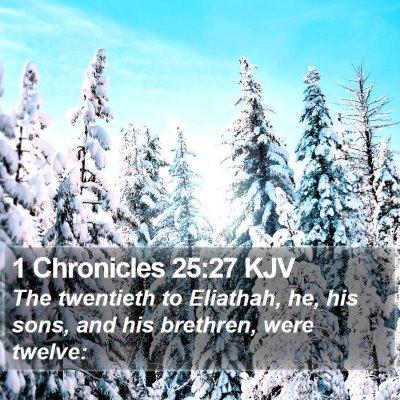 1 Chronicles 25:27 KJV Bible Verse Image