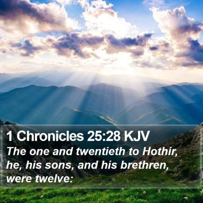 1 Chronicles 25:28 KJV Bible Verse Image