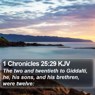 1 Chronicles 25:29 KJV Bible Verse Image