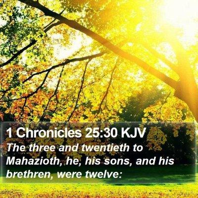 1 Chronicles 25:30 KJV Bible Verse Image