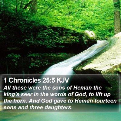 1 Chronicles 25:5 KJV Bible Verse Image