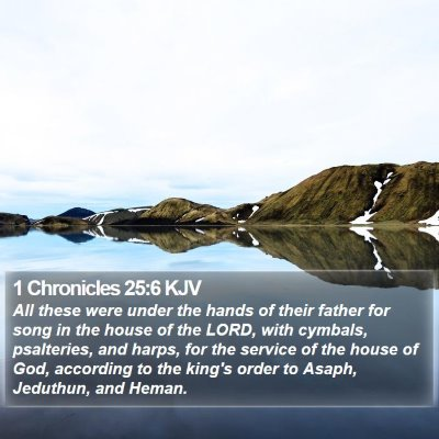 1 Chronicles 25:6 KJV Bible Verse Image