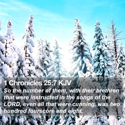 1 Chronicles 25:7 KJV Bible Verse Image