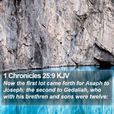1 Chronicles 25:9 KJV Bible Verse Image