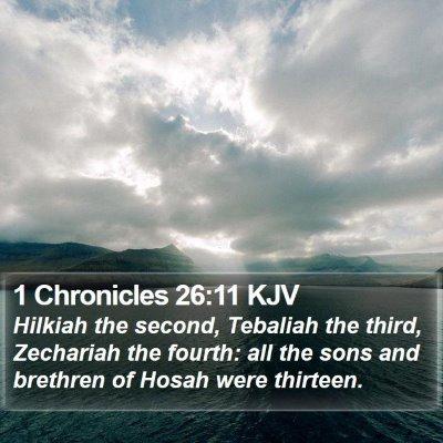1 Chronicles 26:11 KJV Bible Verse Image