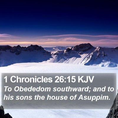 1 Chronicles 26:15 KJV Bible Verse Image