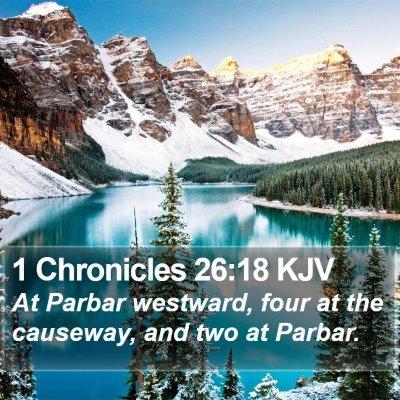 1 Chronicles 26:18 KJV Bible Verse Image
