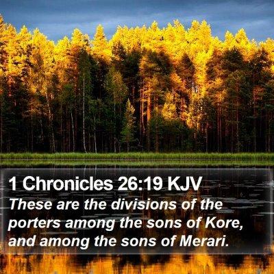 1 Chronicles 26:19 KJV Bible Verse Image
