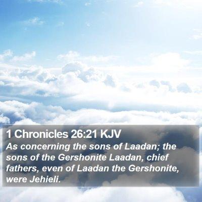 1 Chronicles 26:21 KJV Bible Verse Image