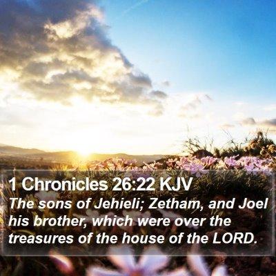 1 Chronicles 26:22 KJV Bible Verse Image