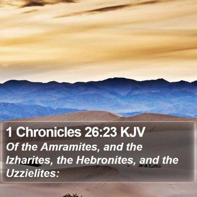 1 Chronicles 26:23 KJV Bible Verse Image