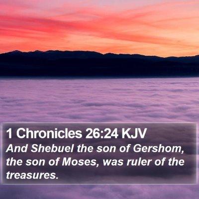 1 Chronicles 26:24 KJV Bible Verse Image