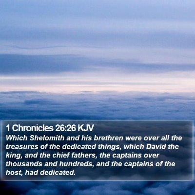 1 Chronicles 26:26 KJV Bible Verse Image