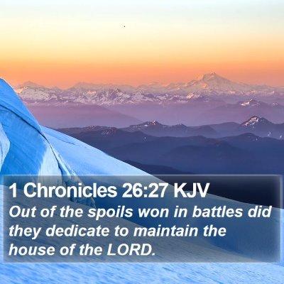 1 Chronicles 26:27 KJV Bible Verse Image