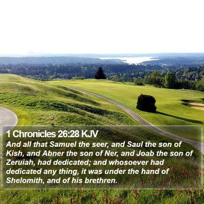 1 Chronicles 26:28 KJV Bible Verse Image