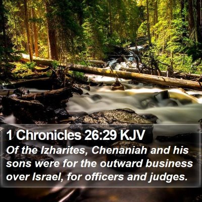 1 Chronicles 26:29 KJV Bible Verse Image