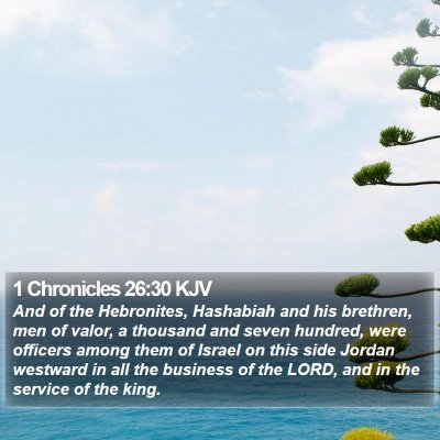1 Chronicles 26:30 KJV Bible Verse Image