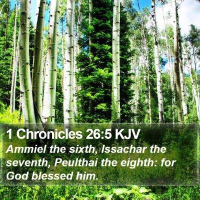 1 Chronicles 26:5 KJV Bible Verse Image