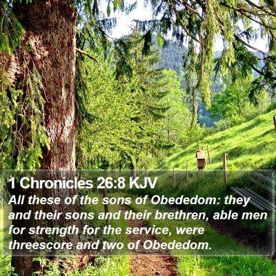 1 Chronicles 26:8 KJV Bible Verse Image