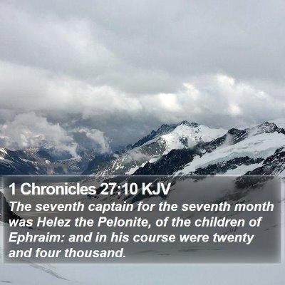 1 Chronicles 27:10 KJV Bible Verse Image