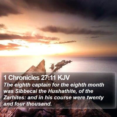 1 Chronicles 27:11 KJV Bible Verse Image