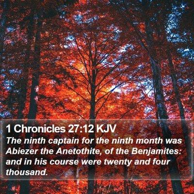 1 Chronicles 27:12 KJV Bible Verse Image
