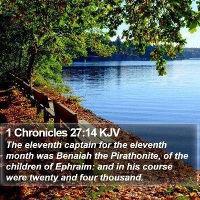 1 Chronicles 27:14 KJV Bible Verse Image