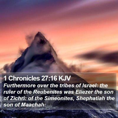 1 Chronicles 27:16 KJV Bible Verse Image