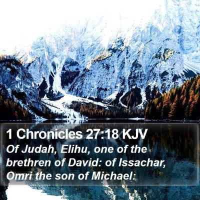 1 Chronicles 27:18 KJV Bible Verse Image