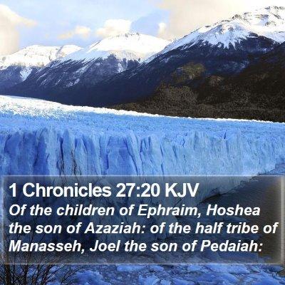 1 Chronicles 27:20 KJV Bible Verse Image