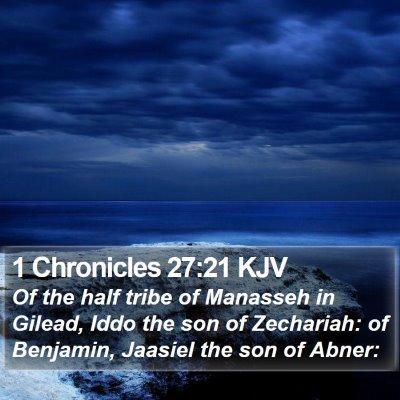 1 Chronicles 27:21 KJV Bible Verse Image