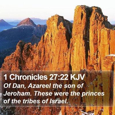 1 Chronicles 27:22 KJV Bible Verse Image