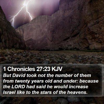 1 Chronicles 27:23 KJV Bible Verse Image