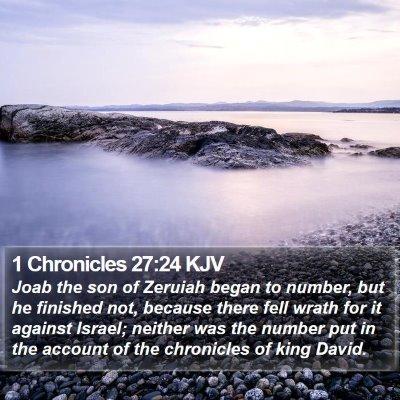 1 Chronicles 27:24 KJV Bible Verse Image