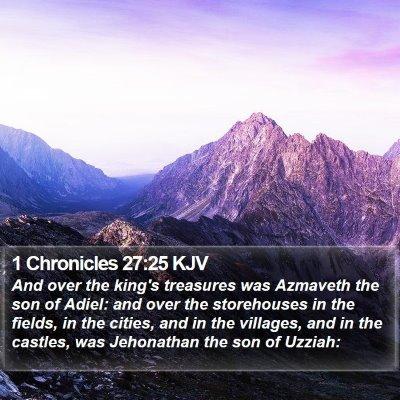 1 Chronicles 27:25 KJV Bible Verse Image