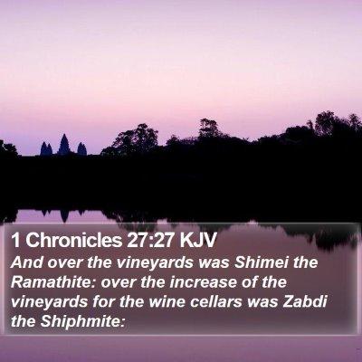 1 Chronicles 27:27 KJV Bible Verse Image