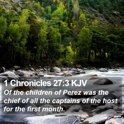 1 Chronicles 27:3 KJV Bible Verse Image