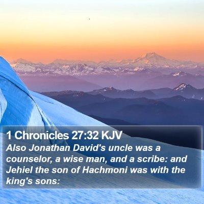 1 Chronicles 27:32 KJV Bible Verse Image