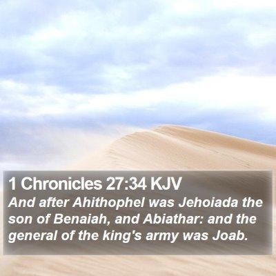 1 Chronicles 27:34 KJV Bible Verse Image
