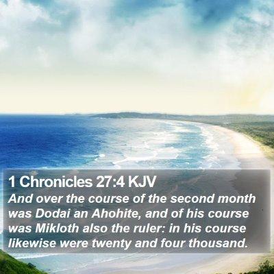 1 Chronicles 27:4 KJV Bible Verse Image