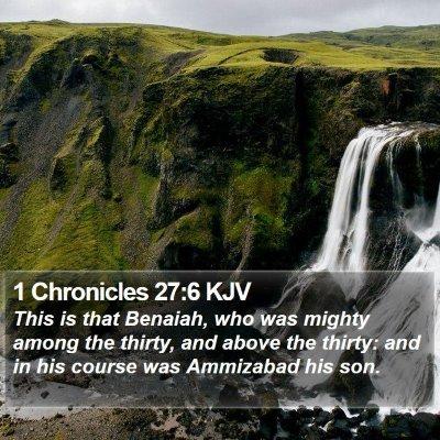 1 Chronicles 27:6 KJV Bible Verse Image