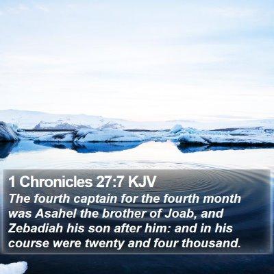 1 Chronicles 27:7 KJV Bible Verse Image